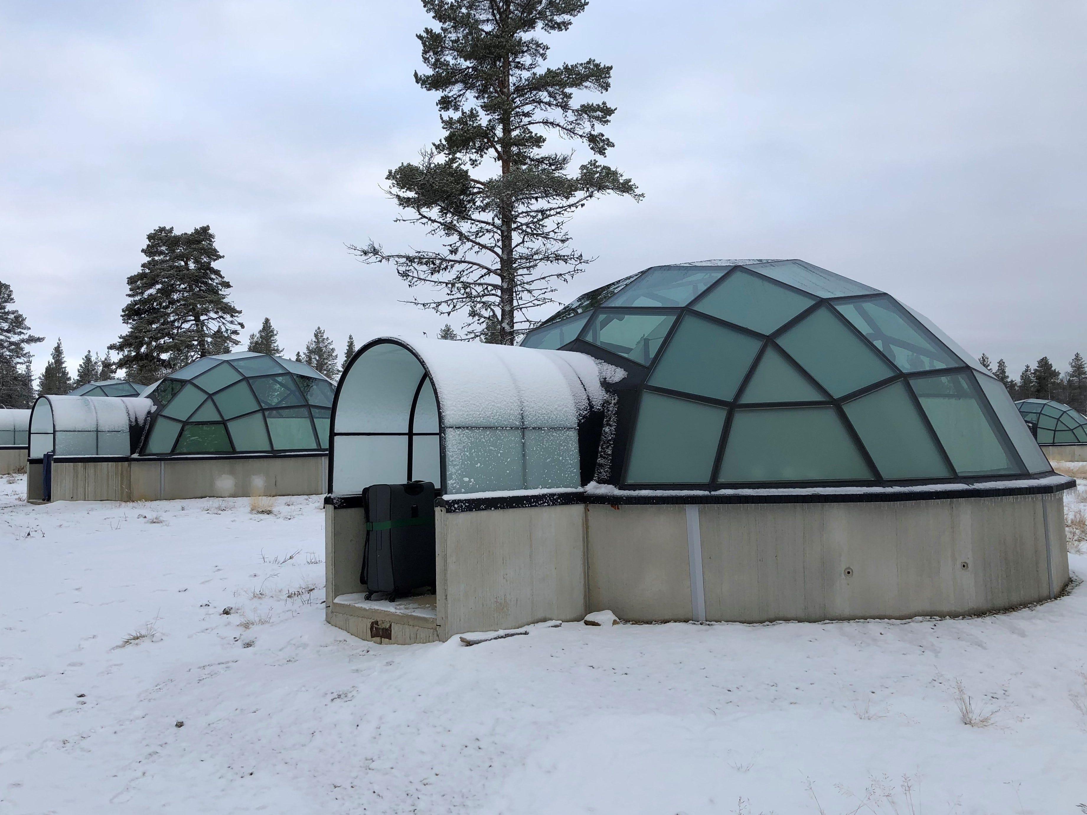 Accommodations for Ed McKenna at the  Kakslauttanen Arctic Resort.