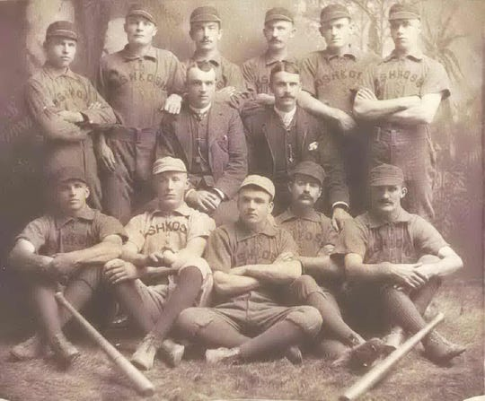 William Hoy joined the Oshkosh baseball team in 1886, the first year the team was started. According to the Oshkosh Public Museum, Hoy is in the far back row, far left.