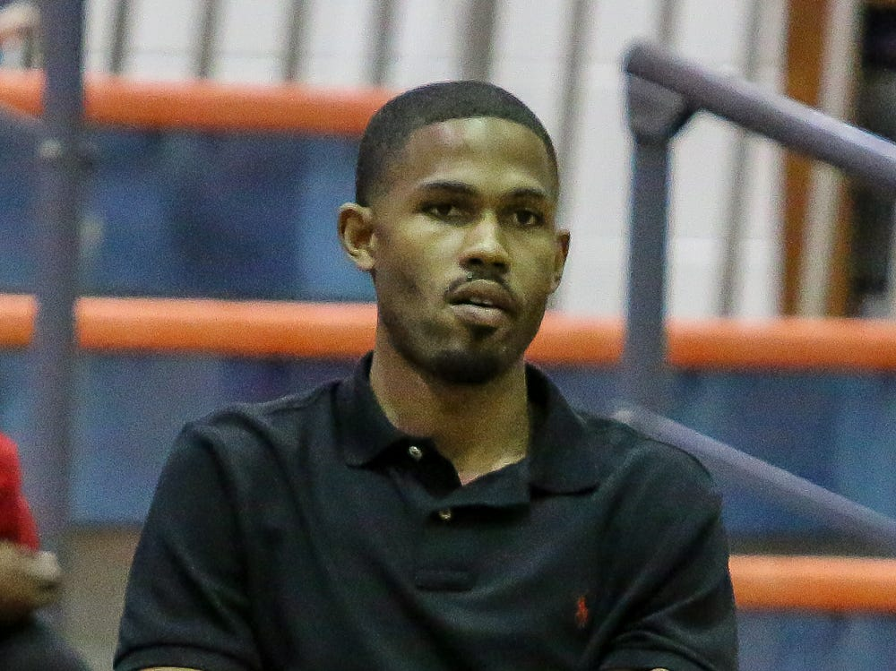 Pine Forest head coach Tychicus McCants watches as his team takes on Pensacola Catholic in the preseason basketball jamboree at Escambia High School on Tuesday, November 20, 2018.