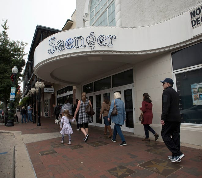 The fate of the new doors in the Saenger Theatre is uncertain after the Architectural Review Board denied the theatre's request to keep the illegally installed facade.