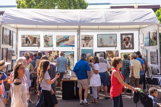 Over 350 artists showcase their work at the Tempe Festival of the Arts each fall.