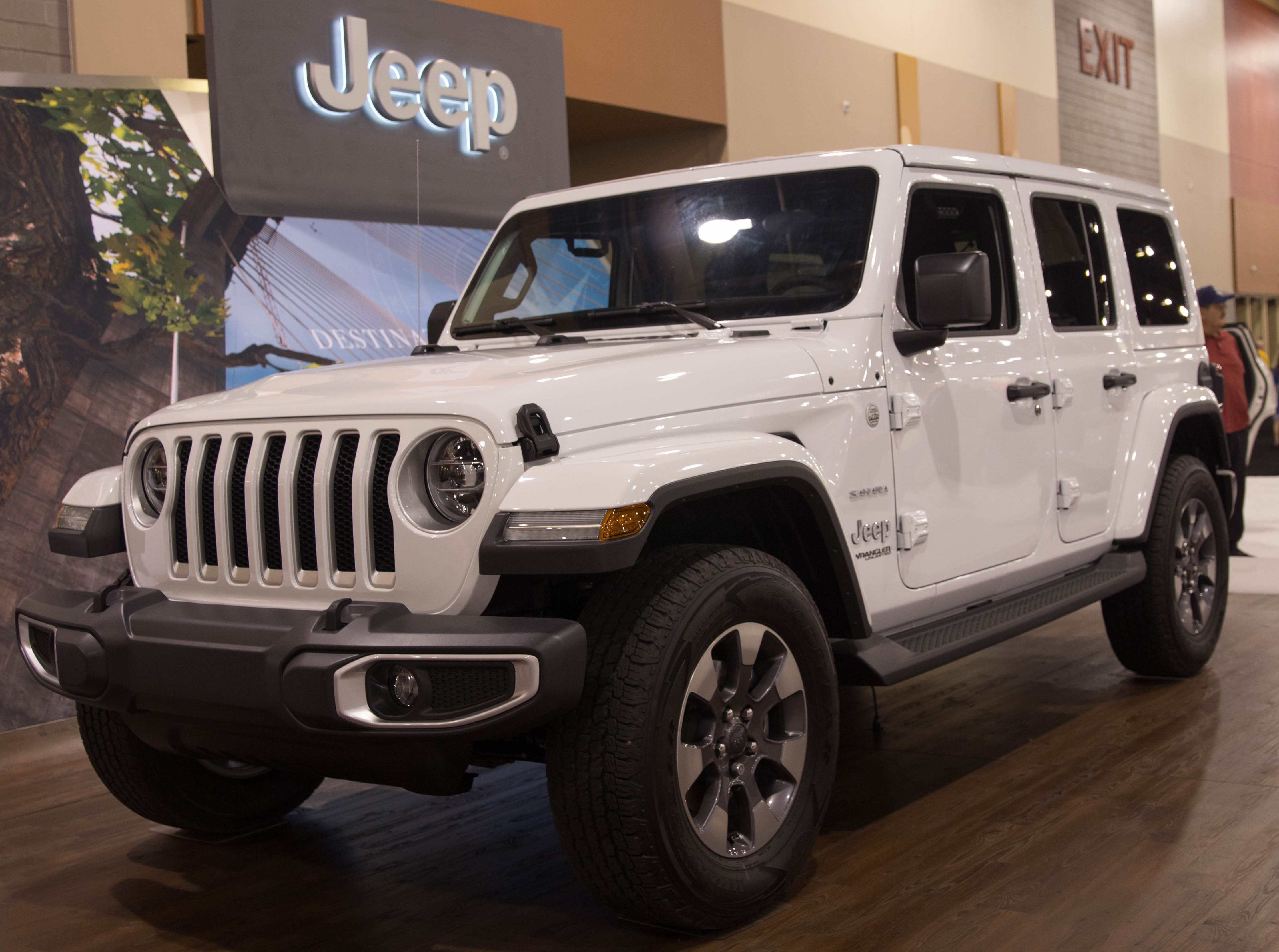 The 2019 Jeep Wrangler was on display at the Arizona International Auto Show.