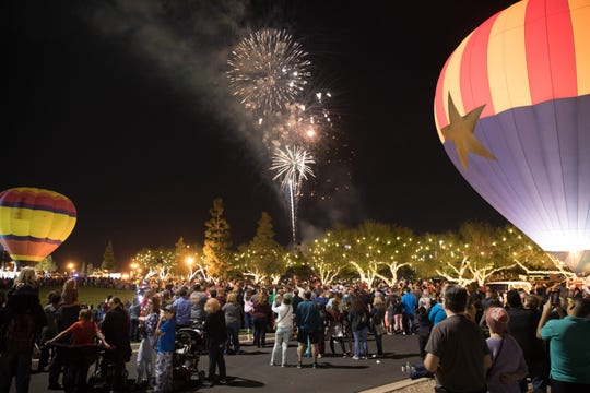 A hot air balloon glow, fireworks and a tree lighting are all part of the City of Surprise's annual Surprise Party.