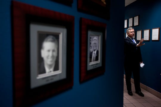 """Bill Montgomery talks of being the product of three pillars: his mom'sself-fulfillmentadvice; Catholicism's 10 Commandments; and West Point's honor code. """"Timeless values and principles,"""" he says. """"Something to draw from."""""""