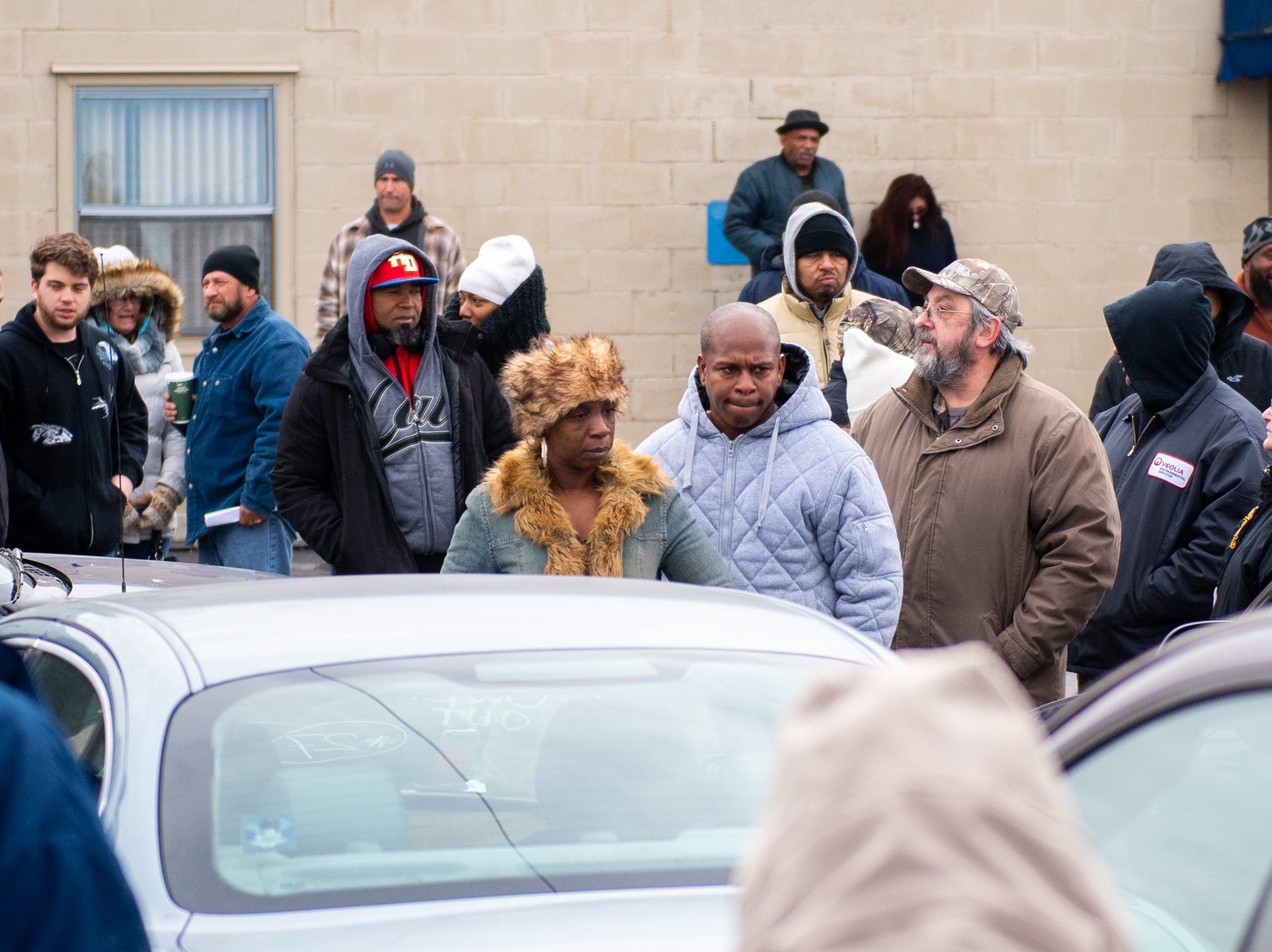Bidders braved the frigid, below freezing, temperatures to try and get a car during the York County Drug Task Force auction on Black Friday, November 23, 2018.