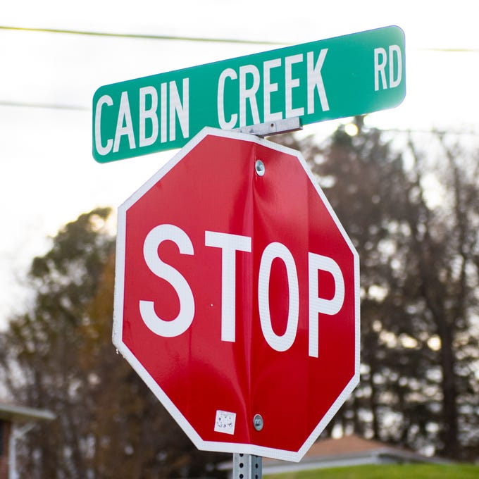 Part of Cabin Creek Road in Lower Windsor Township was temporarily shutdown due to a vehicular crash, November 23, 2018.