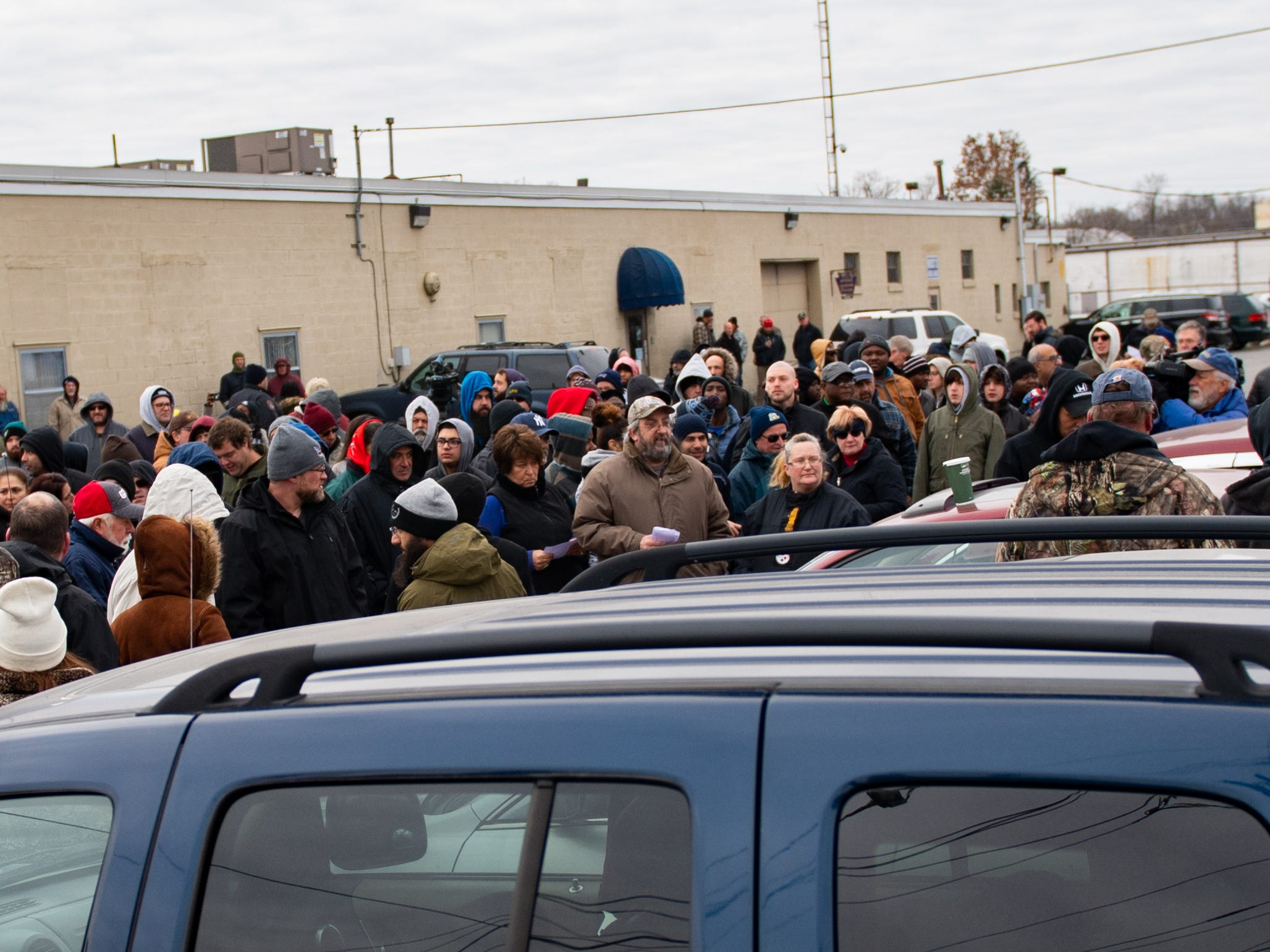 Hundreds of Yorkers gathered around to bid on their favorite cars in the lot, November 23, 2018.