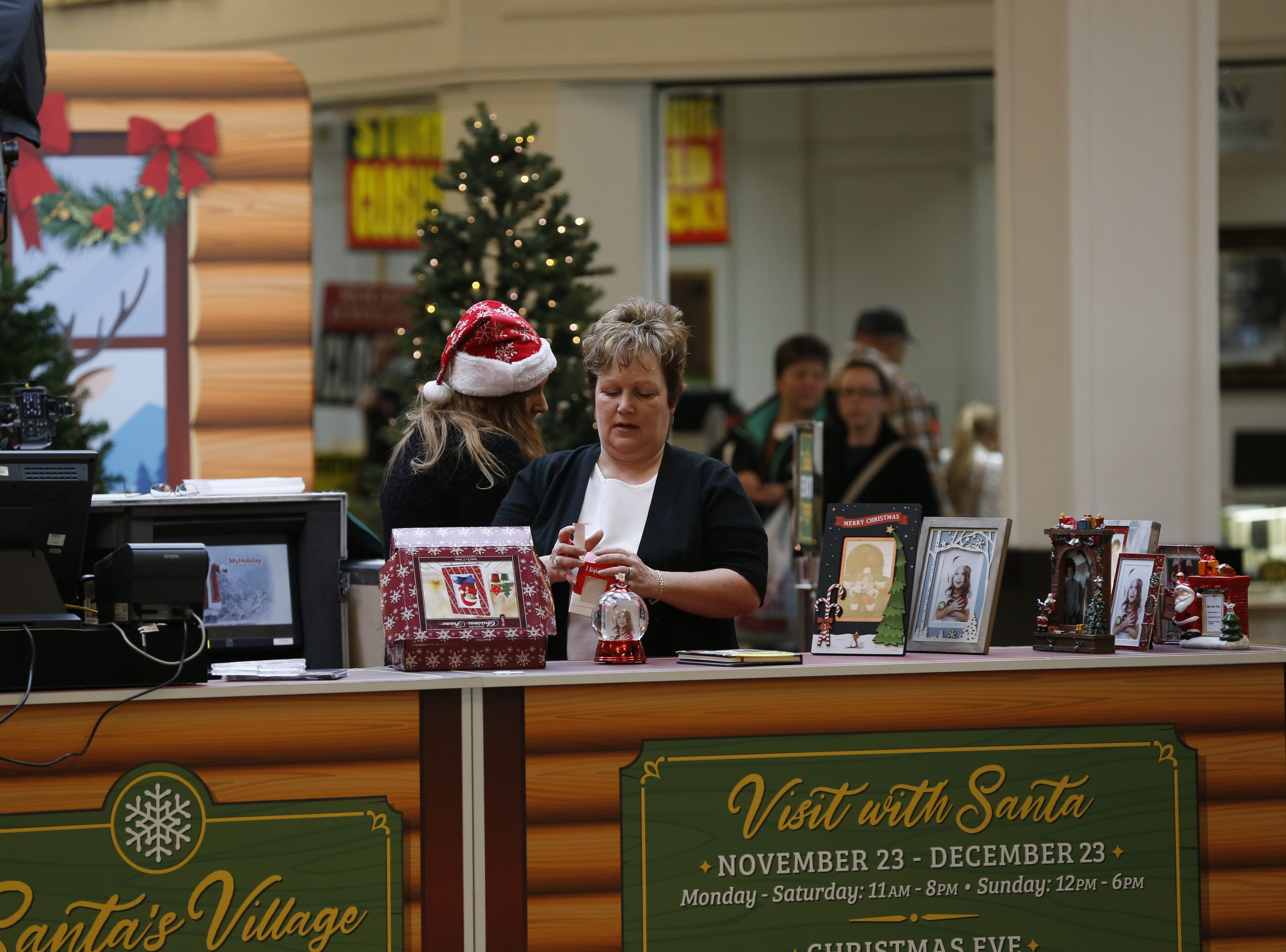 Santa's area at the Richmond Mall has had a makeover this year. Mr. Claus made his arrival Friday, Nov. 23, 2018, and will be there through Christmas Eve.