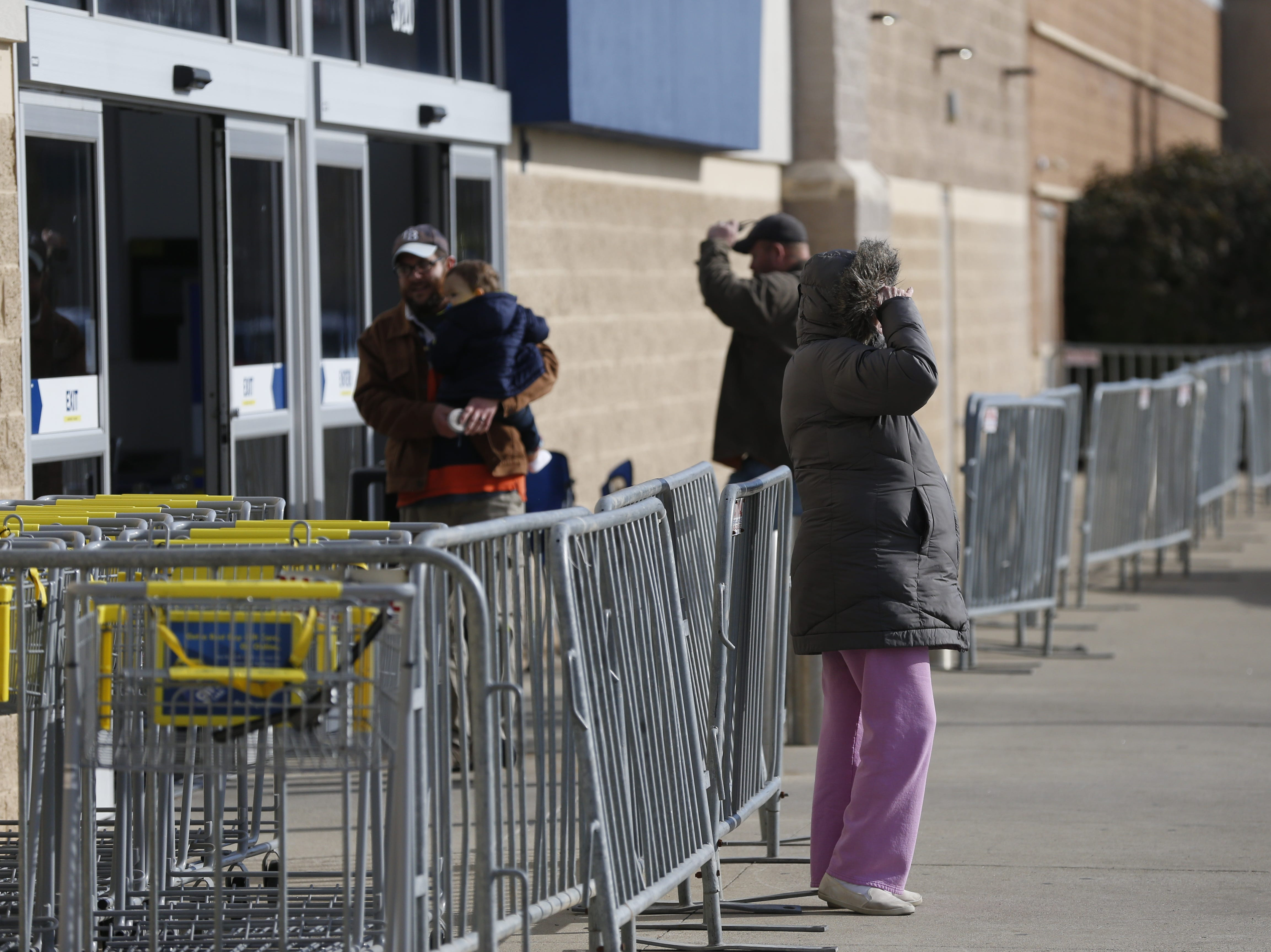 The line was gone but the barriers remained Friday morning outside the Richmond Best Buy along National Road East on Nov. 23, 2018.