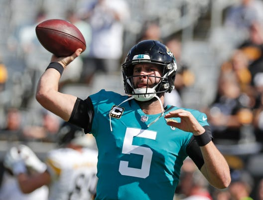 6d0444bb5 Blake Bortles. The inconsistency of quarterback Blake Bortles is one reason the  Jacksonville Jaguars have lost six straight games ...