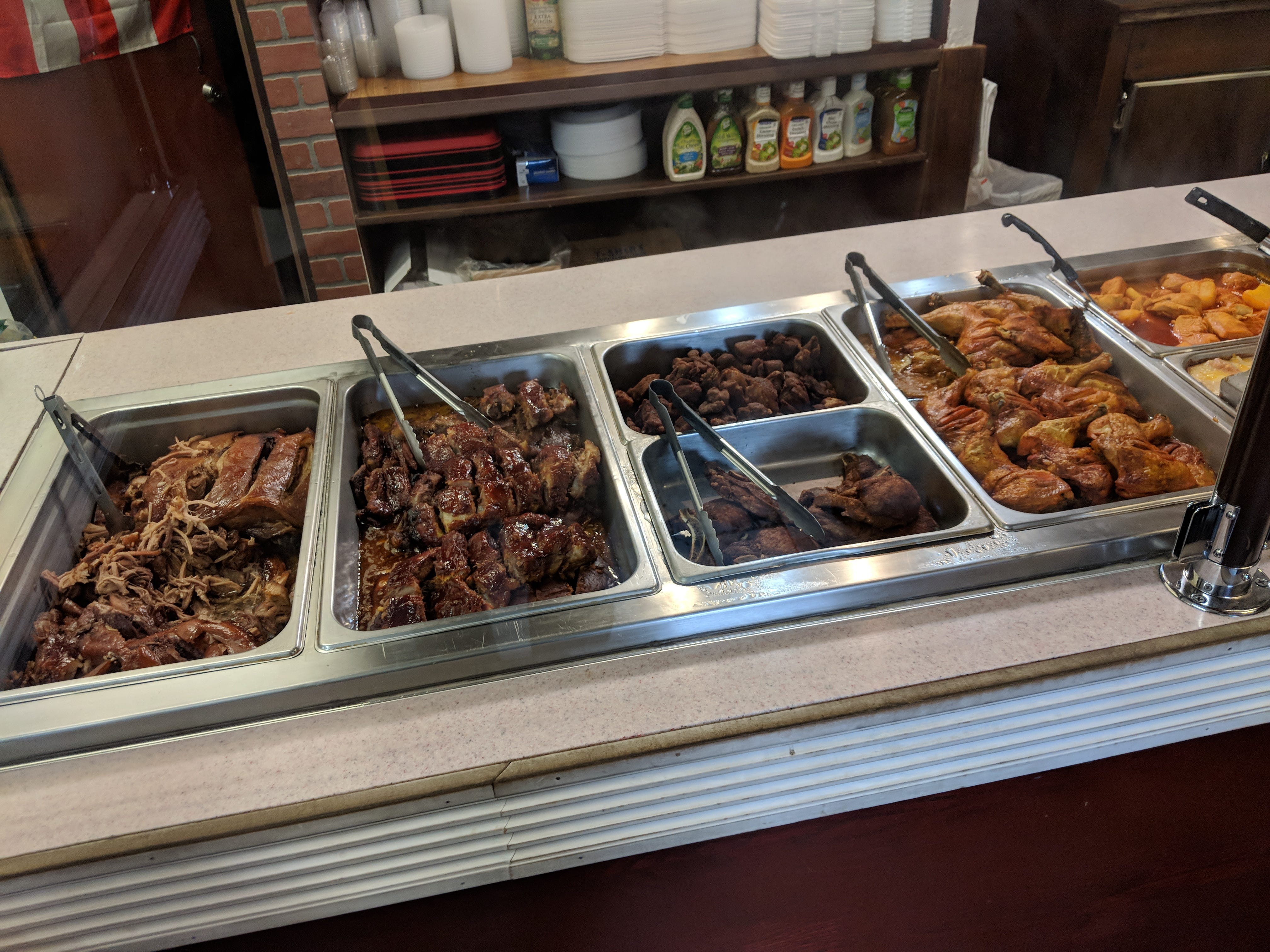 Some of the food choices at La Olla Criolla.