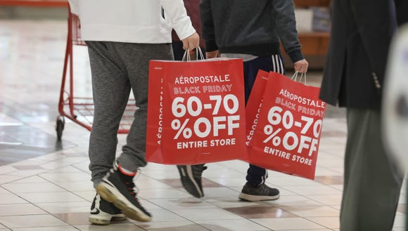 Black Friday shoppers are shown in this photo.