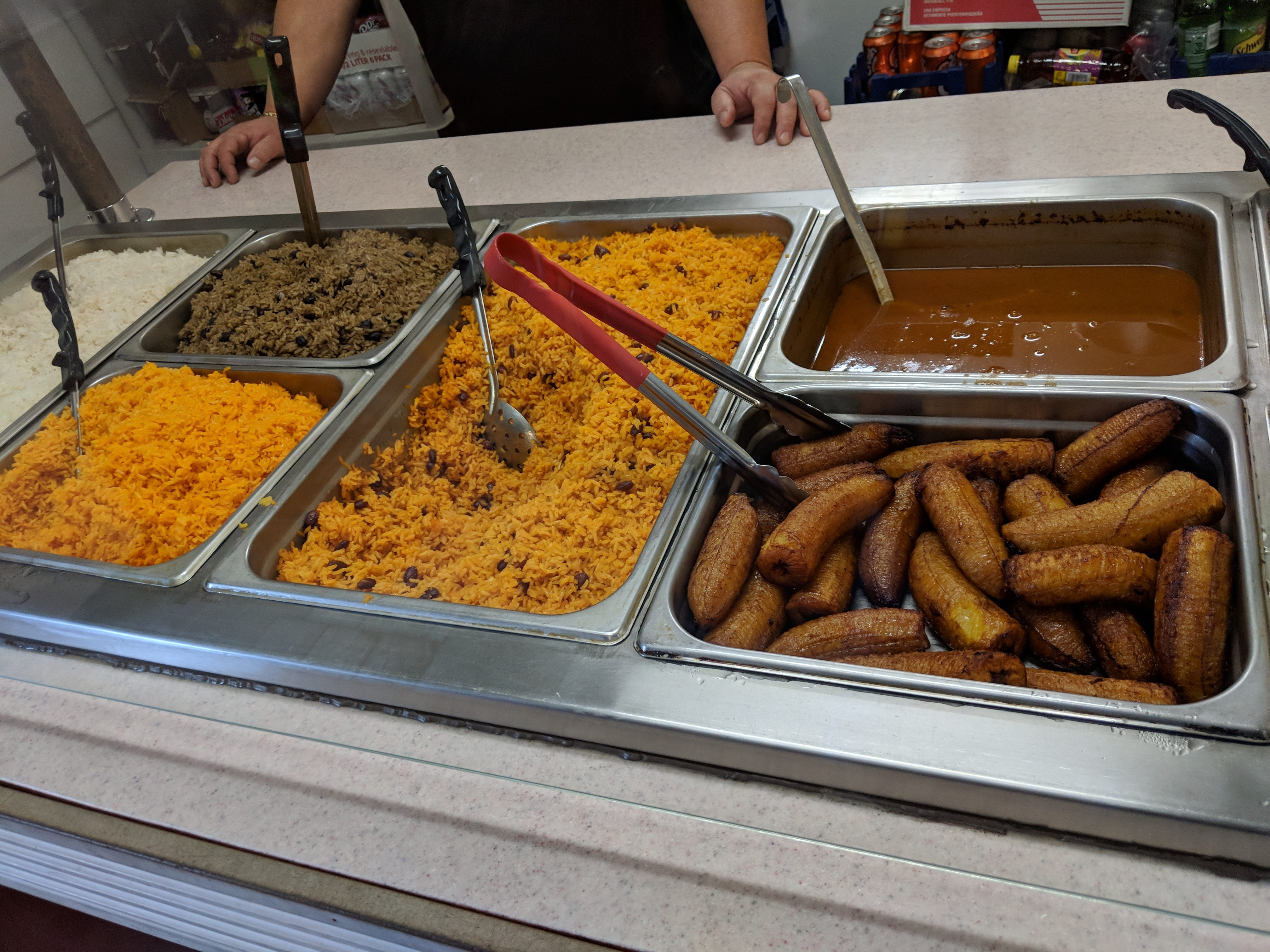 La Olla Criolla offers three kinds of rice.