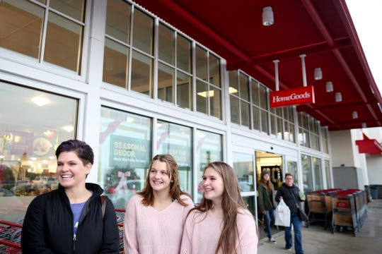 Kaytee Heath, of Prineville, shops with her daughter, Madee Heath, 14, center, and her friend Chloe Santana, 14, of Silverton, at Willamette Town Center in Salem on Black Friday, Friday, Nov. 23, 2018.