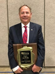 Randy Matthews was among the first class inducted into the Texas State Athletic Trainers' Association Hall of Fame earlier this year.