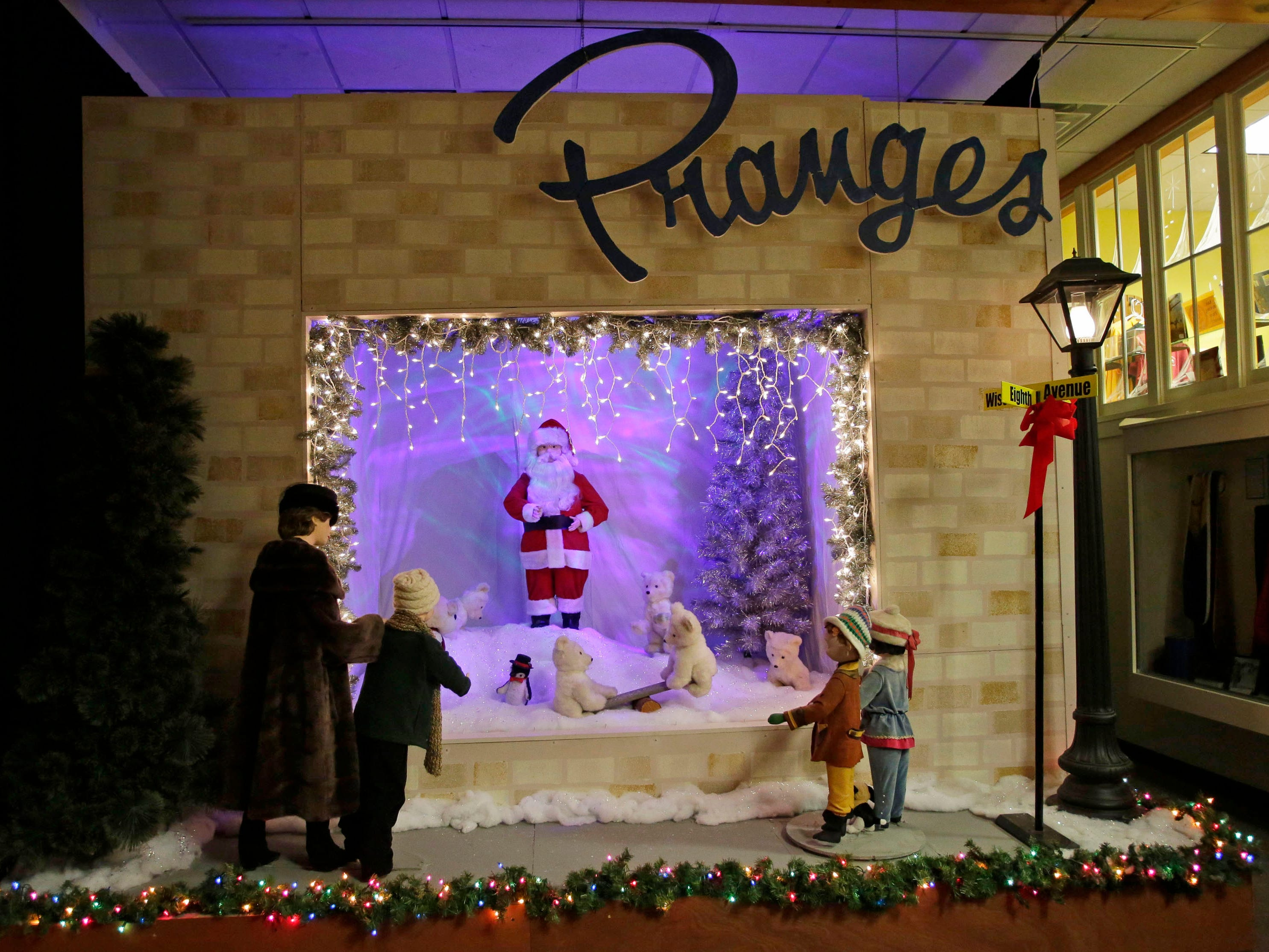 A Prange's window scene from the Sheboygan County Historical Museum's Holiday Memories, Friday, November 23, 2018, in Sheboygan, Wis.