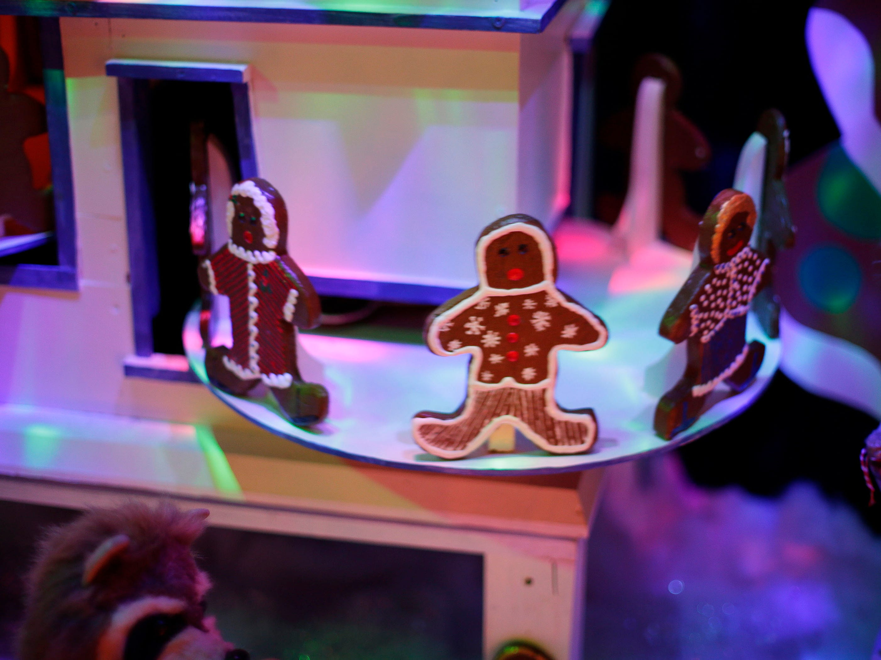 A gingerbread cookie machine produces endless cookies at the Sheboygan County Historical Museum's Holiday Memories, Friday, November 23, 2018, in Sheboygan, Wis. The animation was part of the classic Prange's animations collection the museum has.