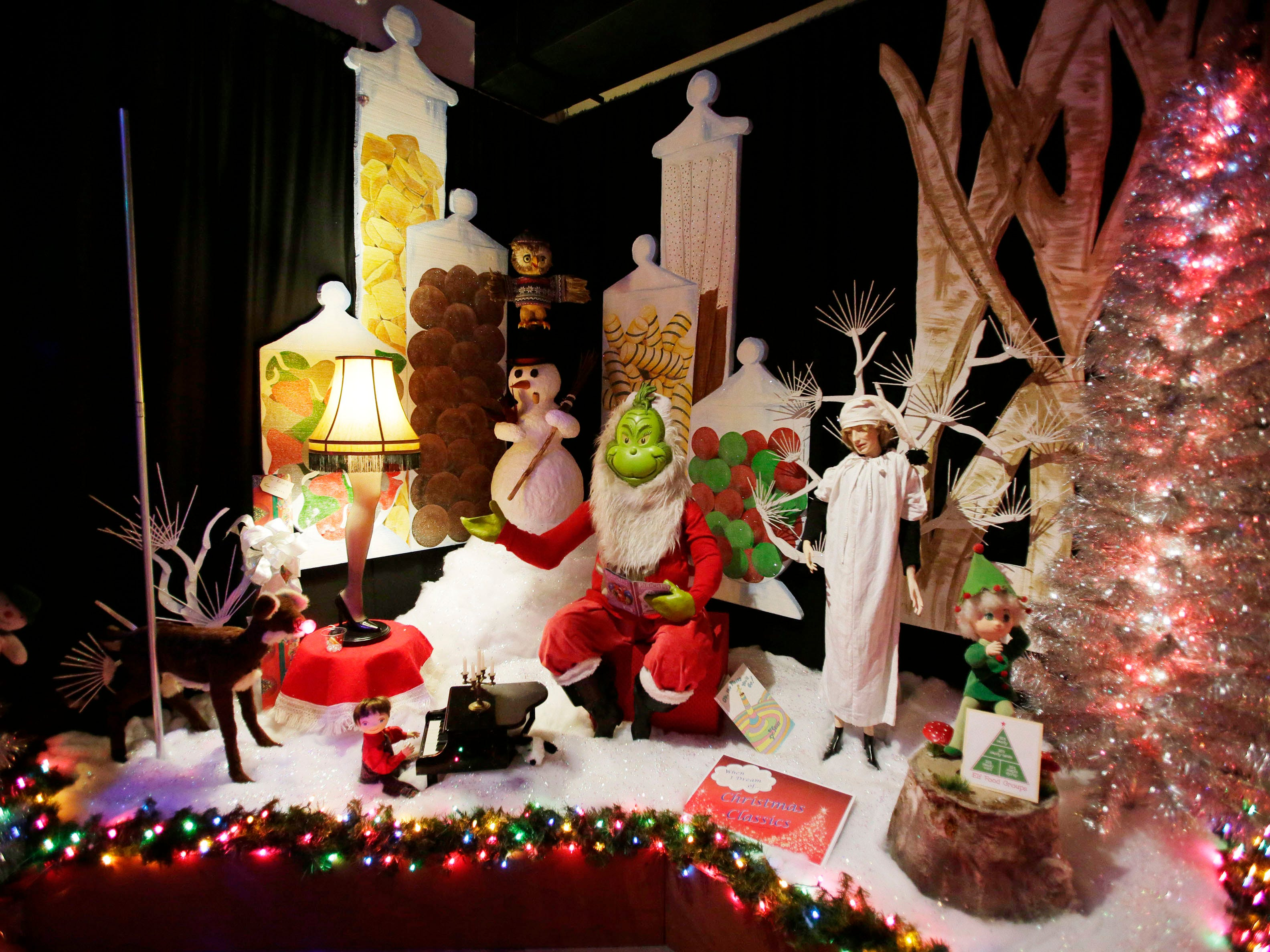 An eclectic holiday scene from the Sheboygan County Historical Museum's Holiday Memories, Friday, November 23, 2018, in Sheboygan, Wis.
