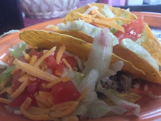 Beef tacos at El Compadre