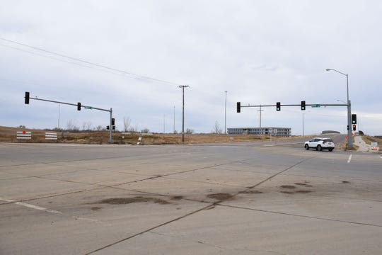 The intersection of South Tallgrass Avenue and West 69th Street is shown in Sioux Falls, S.D., Friday, Nov. 23, 2018.