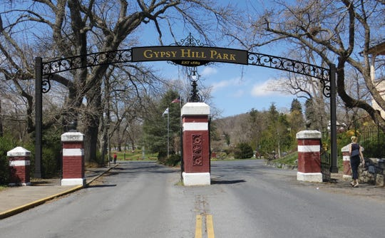 A rendering of planned renovations to the gateway of Gypsy Hill Park.