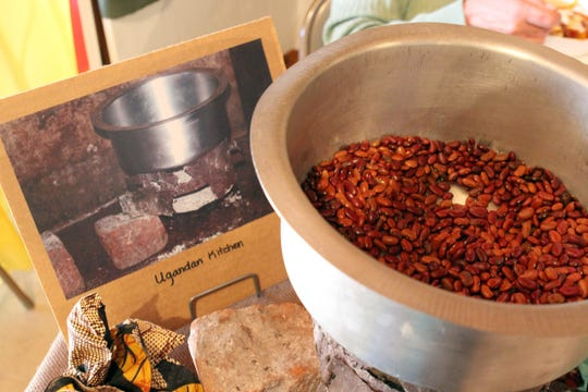 Beans on display at the Hope Street Missions Uganda booth at the Alternative Christmas Market at John Wesley United Methodist Church. The market will be Dec. 1 and 2 this year.