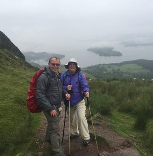 After climbing the hill in the rain.  Overlooking Loch Lomand in Scotland - who has traveled this path before us?