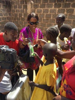 Rosalind at orphanage in Kenya.