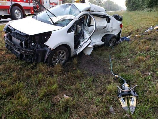 A crash on Friday morning left people with injuries, according to the Martin County Sheriff's office Twitter