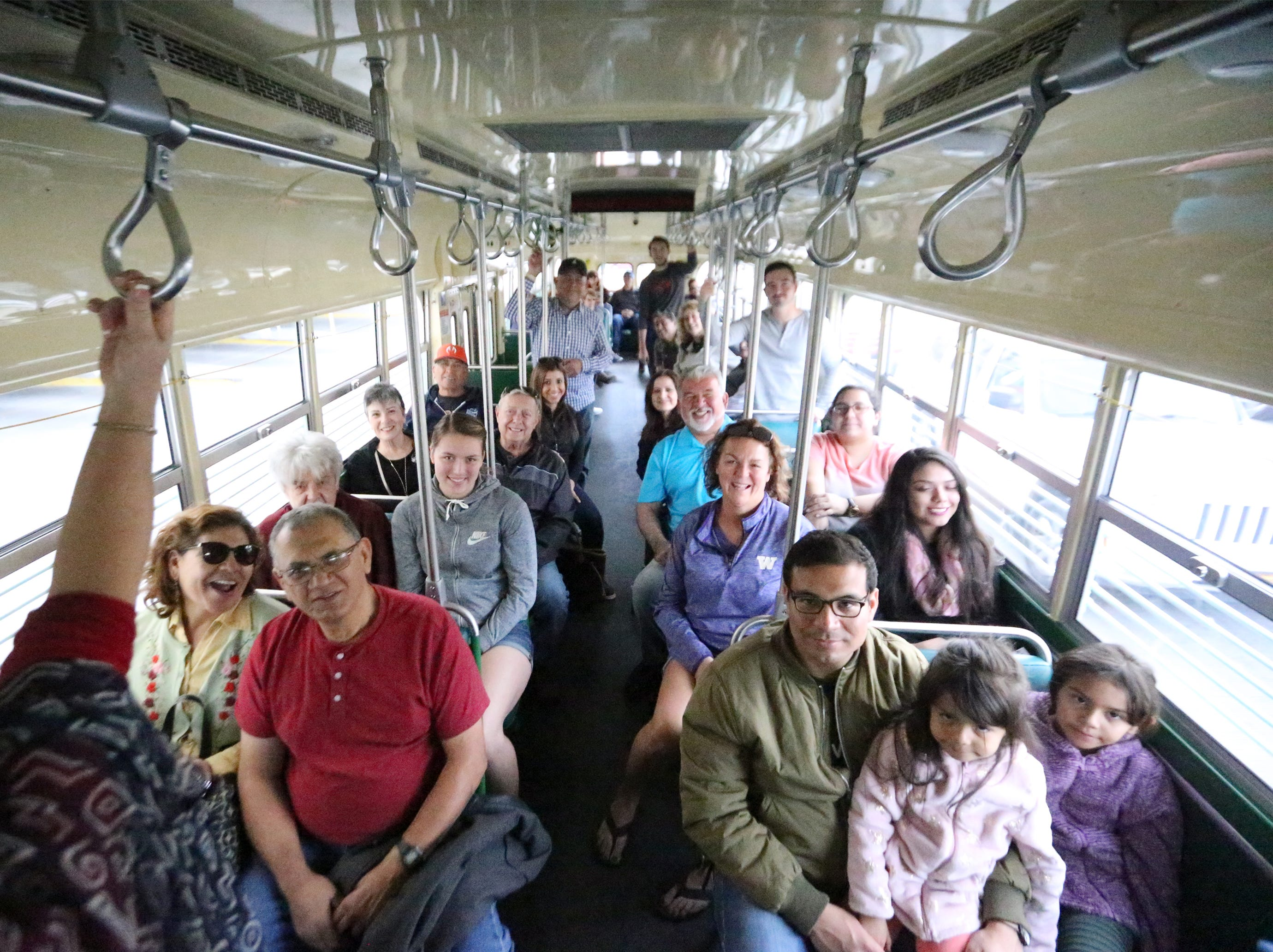 Streetcar 1506 was filled to capacity during a trip around the downtown area and South El Paso Friday afternoon.