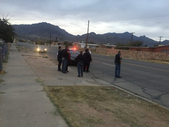 Police respond Nov. 22 to the scene of a shooting in the 8300 block of Signal Peak Place in Northeast El Paso.