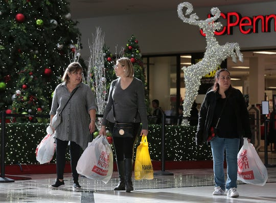 Shoppers cruise Cielo Vista Mall looking for deals on Black Friday.