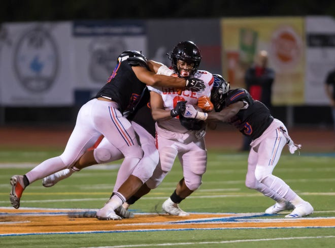 Powerful running back Lontrelle Diggs, a transfer who grew up in Lancaster, helped Grace Brethren win the Division 8 title last season and could lead the Lancers to the Division 4 title Saturday night.