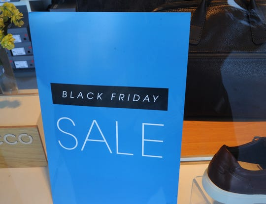 A store sign at the Camarillo Premium Outlets on Black Friday.