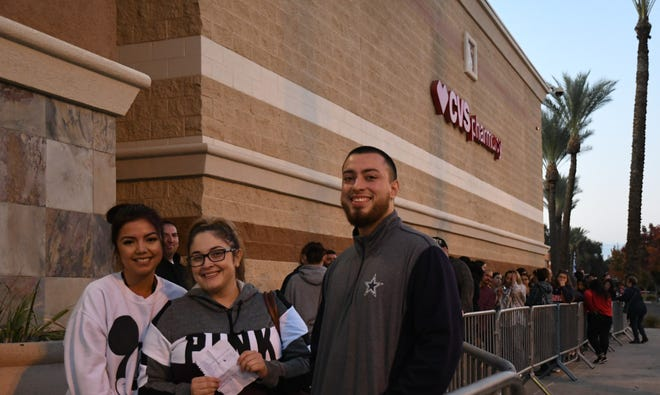 The Gomezes were followed by a trail of more than 100 ahead of Target's 5 p.m. opening on Thanksgiving.
