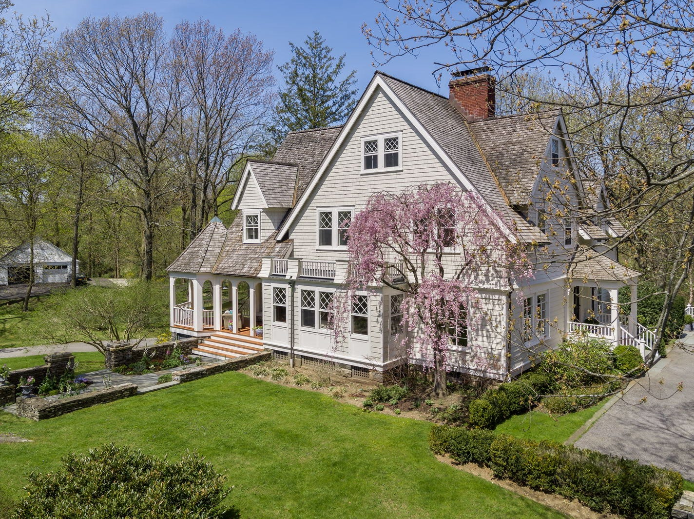 Famed aviation pioneer Ruth Rowland  Nichols lived in this Rye home, now on the market. Built in 1880, the Shingle style colonial  includes a carriage house. The residence has had a modern renovation.