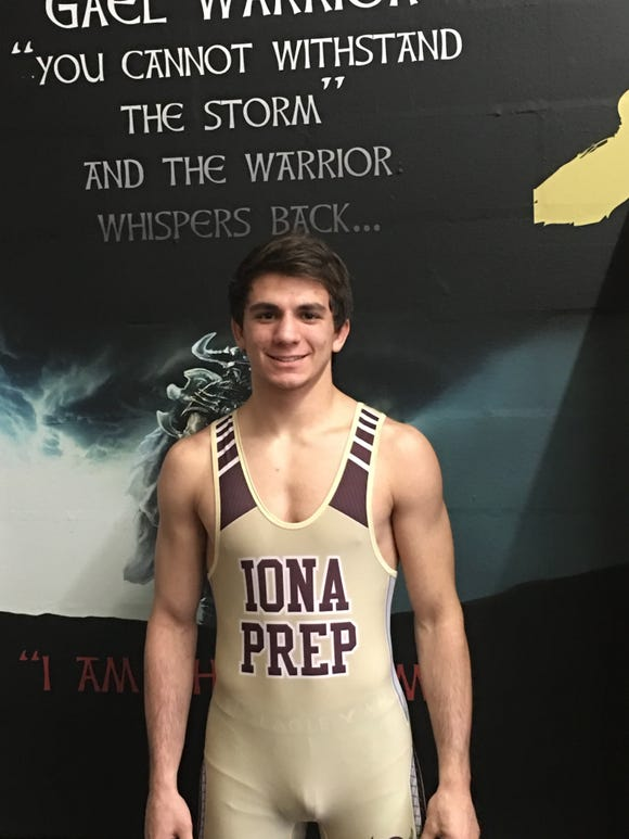Iona Prep's A.J. Kovacs is a 2018-19 lohud wrestling Mean 15 selection.