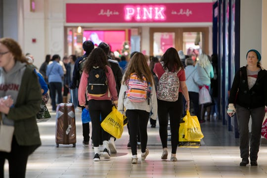 Shoppers looking for deals hit Christiana Mall on Black Friday.