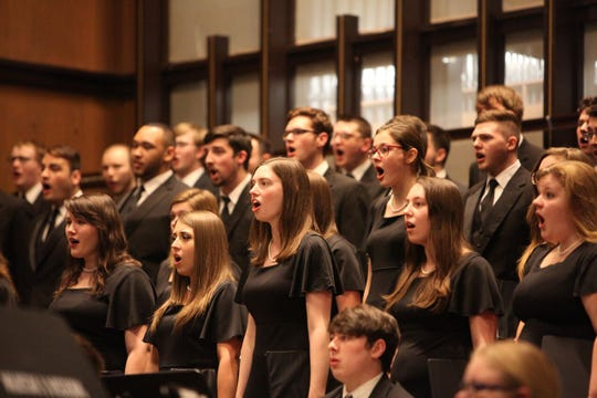 Muskingum University Choir's Christmas Festival Concert is held in the Brown Chapel.