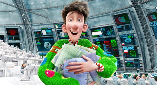 "Santa's son Arthur (voiced by James McAvoy) notices one kid is forgotten at Christmas and decides to right the situation in ""Arthur Christmas."""