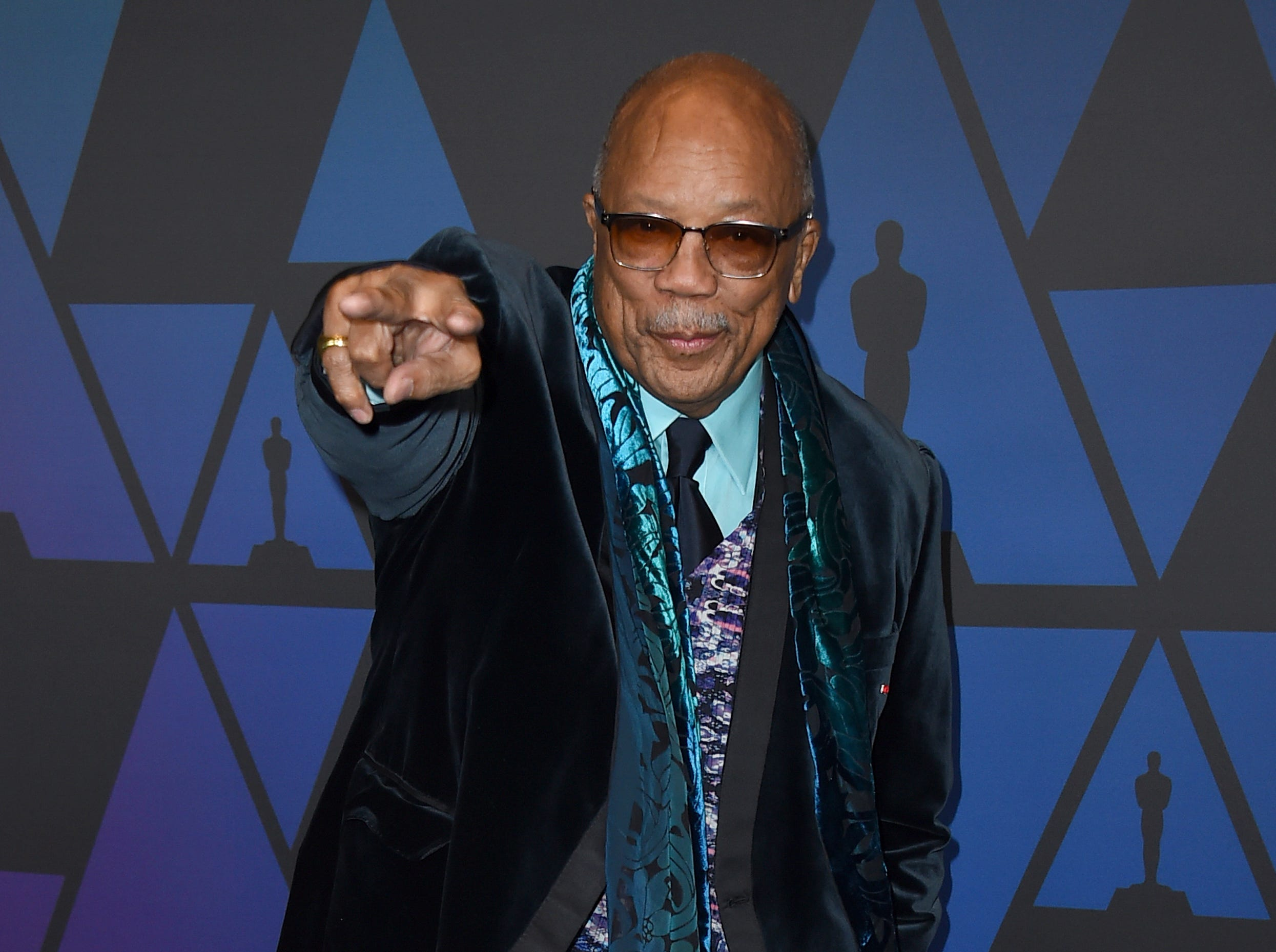 Quincy Jones arrives at the Governors Awards on Sunday, Nov. 18, 2018, at the Dolby Theatre in Los Angeles. (Photo by Jordan Strauss/Invision/AP) ORG XMIT: CAPM167