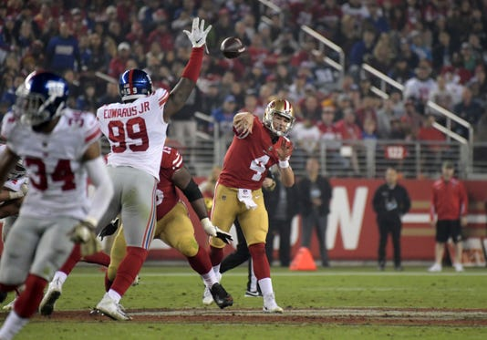 Usp Nfl New York Giants At San Francisco 49ers S Fbn Sf Nyg Usa Ca