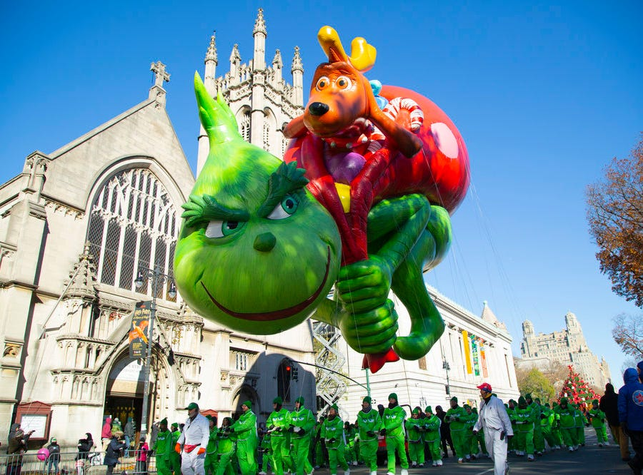 Max and the Grinch are together again in the 2018 Macy's Thanksgiving Parade.
