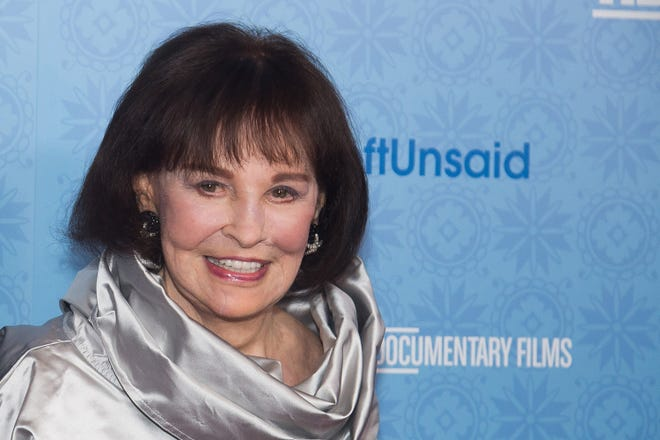 """Gloria Vanderbilt attends the premiere of """"Nothing Left Unsaid"""" on April 4, 2016, in New York."""