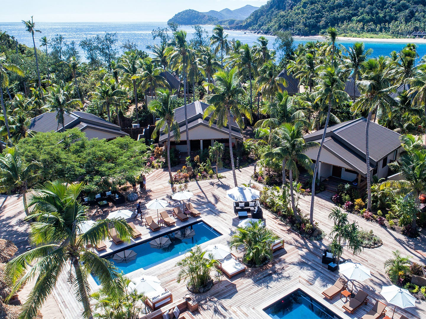 Paradise Cove Resort, from $254 per night. A 2018 TripAdvisor Travelers' Choice Winner, this five-star property in Fiji is a beach hotel like no other. All the rooms are villas, bungalows or suites, so you'll get the full feeling of a tropical paradise. There is a PADI dive shop on-site to arrange water explorations, and the hotel also can arrange swimming with giant manta rays, yoga on the beach and guided hikes. This great family locale has an adults-only portion of the resort called the Cove and a free kids club for the little ones.