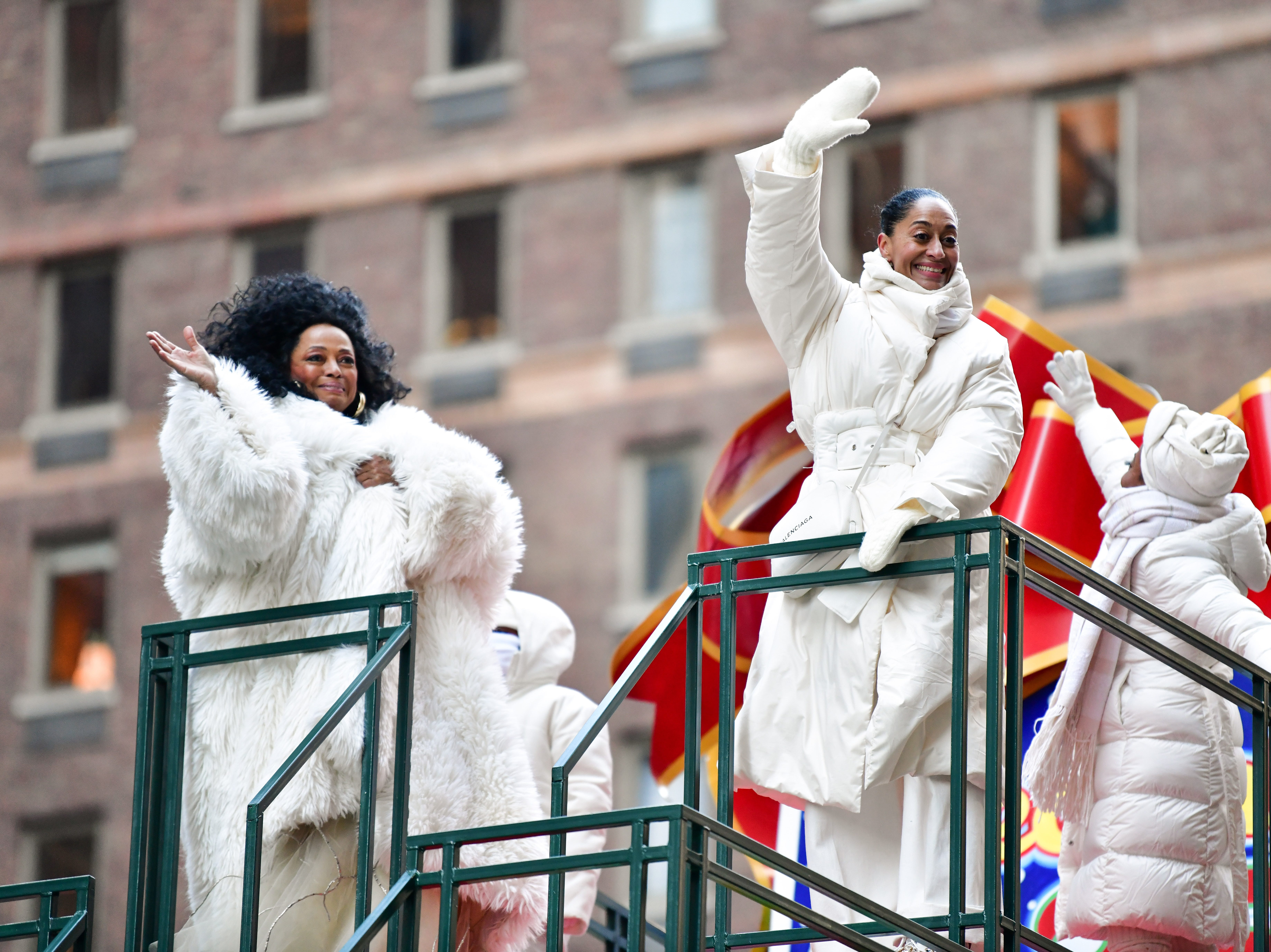 NEW YORK, NY - NOVEMBER 22:  Diana Ross and Tracey Ross attend the 92nd Annual Macy's Thanksgiving Day Parade on November 22, 2018 in New York City.  (Photo by James Devaney/WireImage,) ORG XMIT: 775240086 ORIG FILE ID: 1064359368