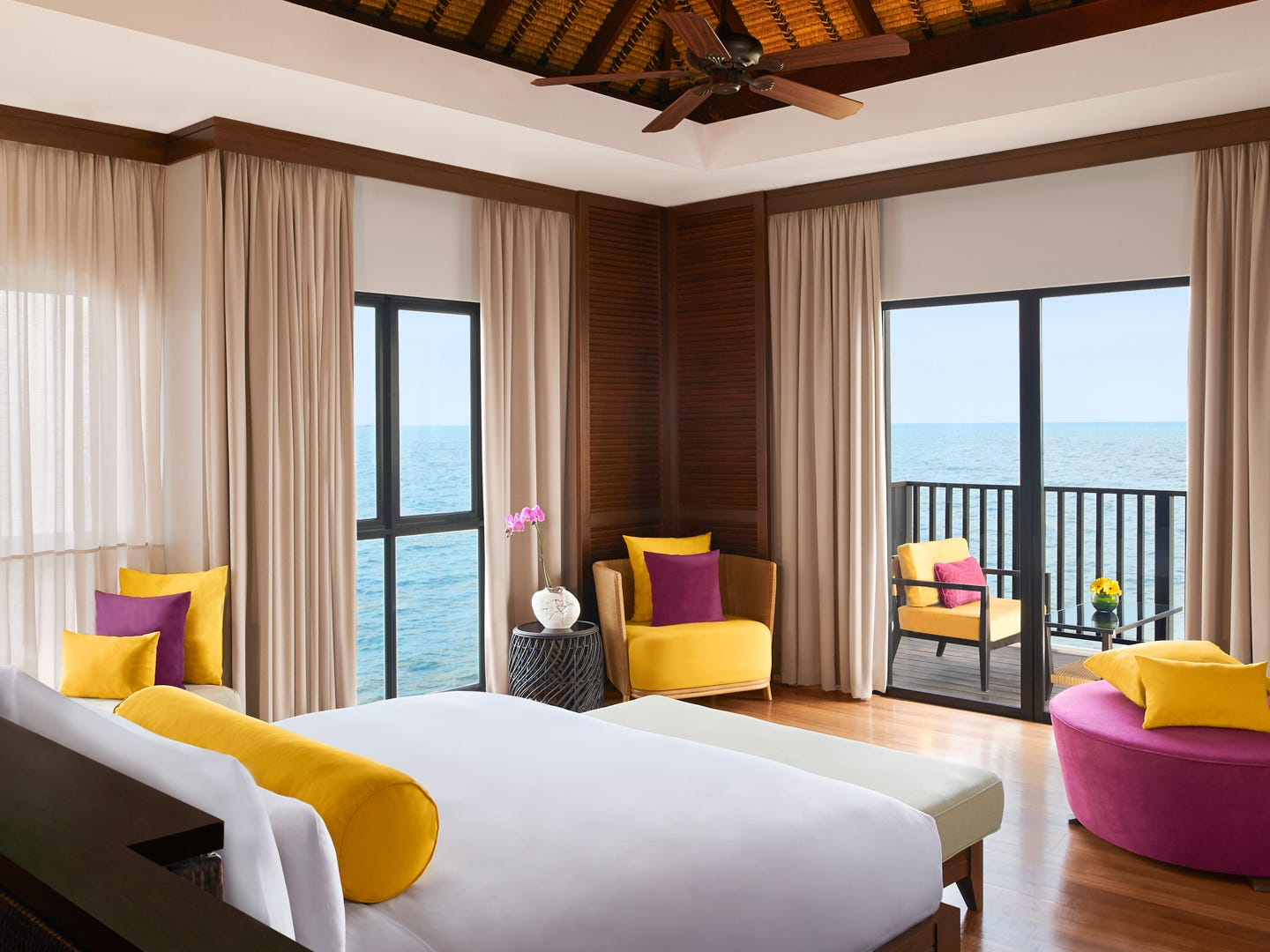 AVANI Sepang Goldcoast Resort, from $160 per night. A two-bedroom over-water villa for less than $200 a night? Yes, it's possible in Malaysia. Recipient of a TripAdvisor certificate of excellence, the AVANI Sepang Goldcoast Resort is the place to stretch out and drift off, surrounded by the lull of the ocean waves. The hotel room is extra large and fits four, so there's plenty of space to relax on your private terrace and take in the views. Nearby attractions include river cruises, eco-villages and even an elephant sanctuary.