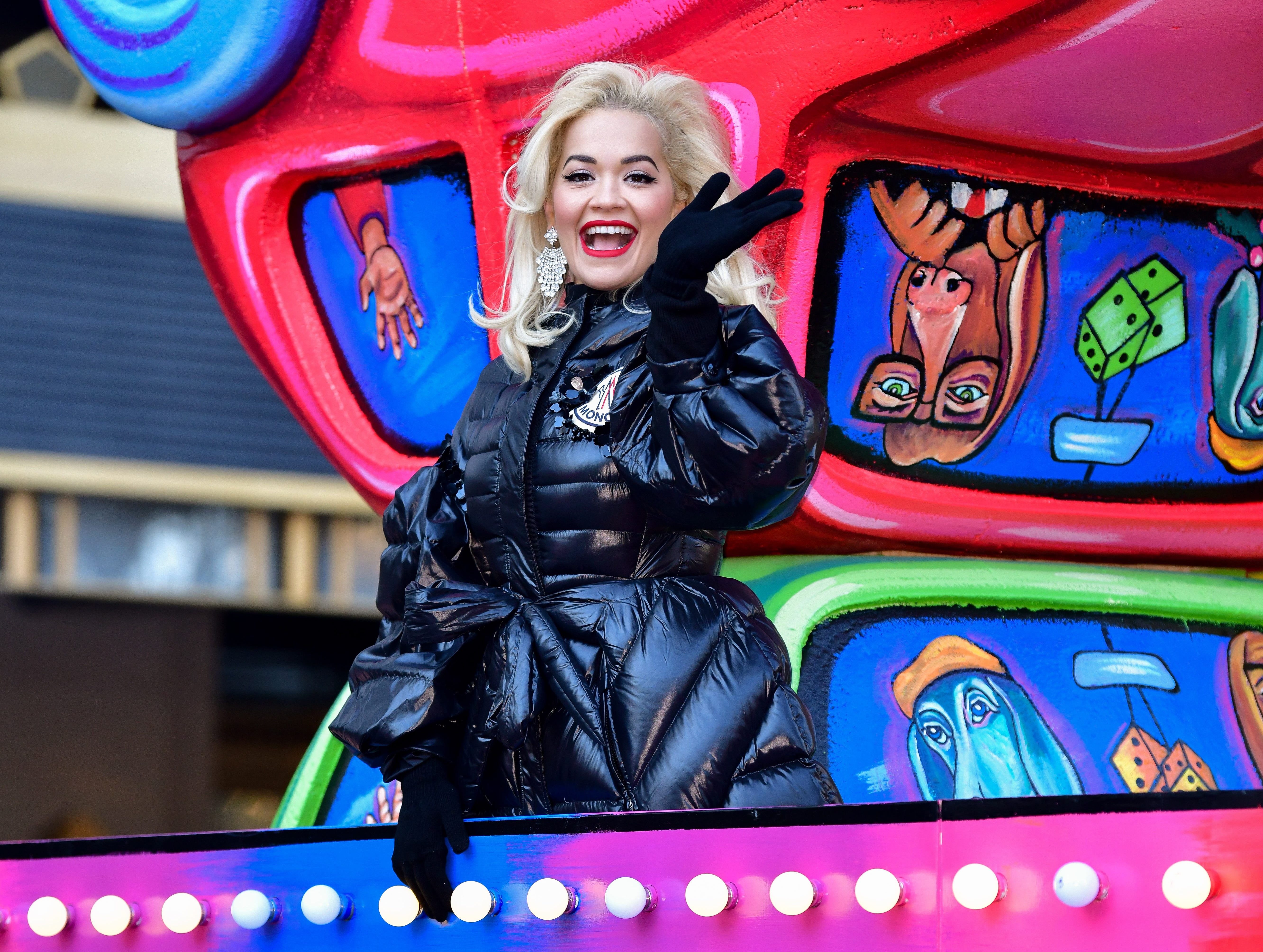 NEW YORK, NY - NOVEMBER 22:  Rita Ora attends the 92nd Annual Macy's Thanksgiving Day Parade on November 22, 2018 in New York City.  (Photo by James Devaney/WireImage,) ORG XMIT: 775240086 ORIG FILE ID: 1064359288