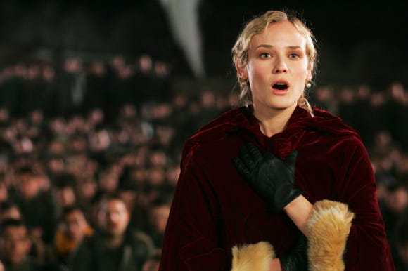 "Diane Kruger sings a merry song during World War I in the drama ""Joyeux Noel."""
