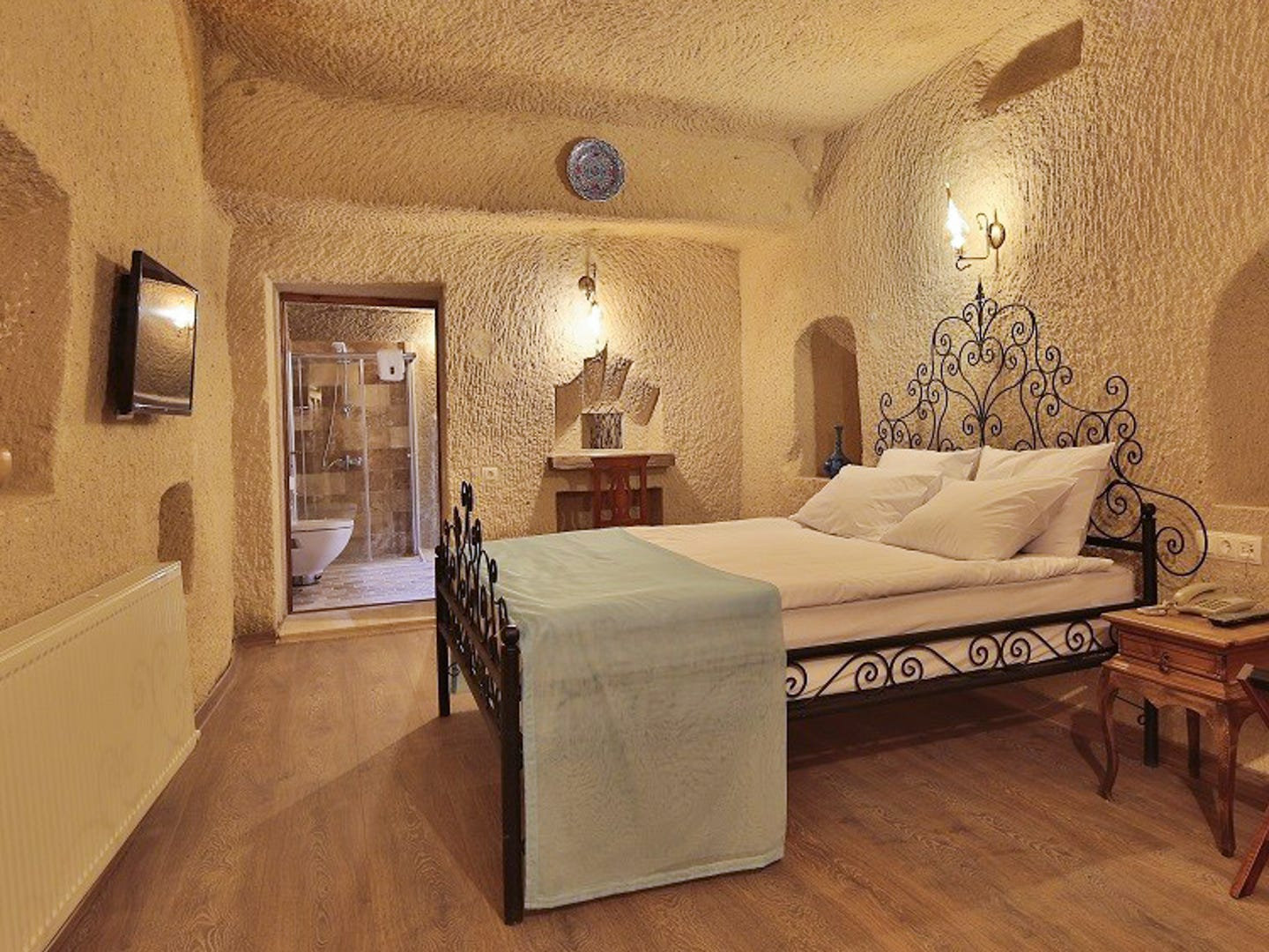 Jacob's Cave Suites, from $99 per night. Cappadocia, Turkey, is known for its otherworldly hot air balloon flights, but it also has an incredible underground labyrinth of cities built right into the rocky landscape. Cave hotels are a novelty, and Jacob's is one that lets you sleep in the caves. It's also received a TripAdvisor certificate of excellence. The rooms are arched and come equipped with en-suite Turkish bathrooms for total privacy and relaxation. When you're ready to resurface and explore the UNESCO Natural Heritage Site, visit the deep, colorful valleys, along with the rock churches, castles and monasteries.